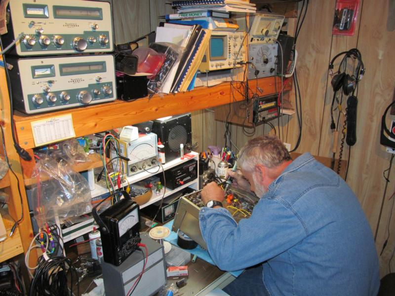 One of the rare times when the workbench is accessible