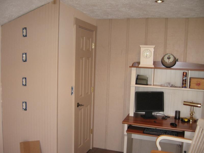 Before shelf installation.  Note the 120VAC feeds for each shelf.