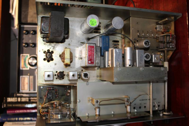 600-R Custom Receiver Chassis.  Note the audio filter board below the meter.