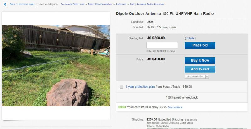 $700 shipped will buy you a VHF/UHF dipole!