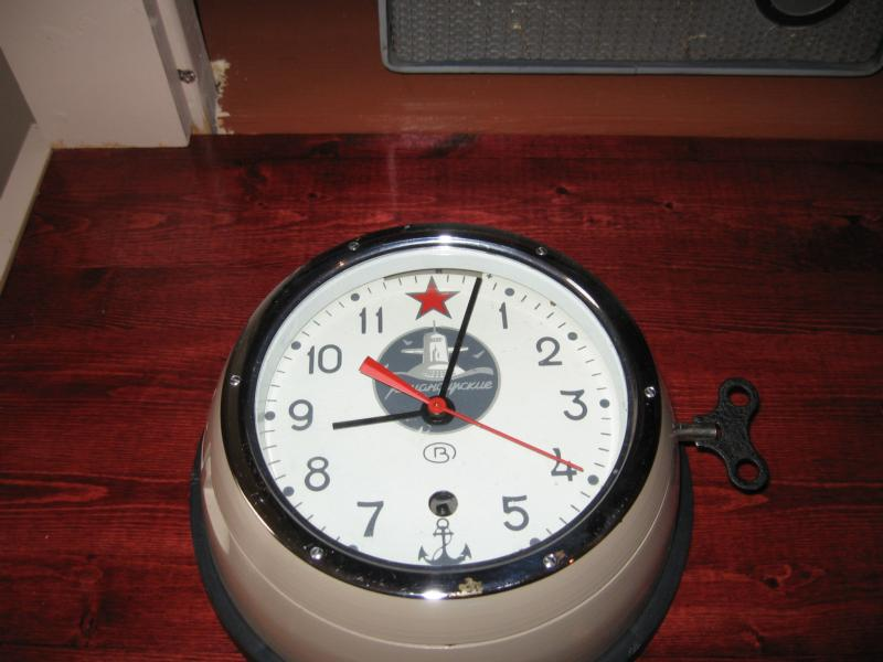 Authentic Russian submarine clock