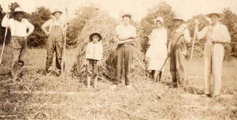 Fielden on the farm, age 9