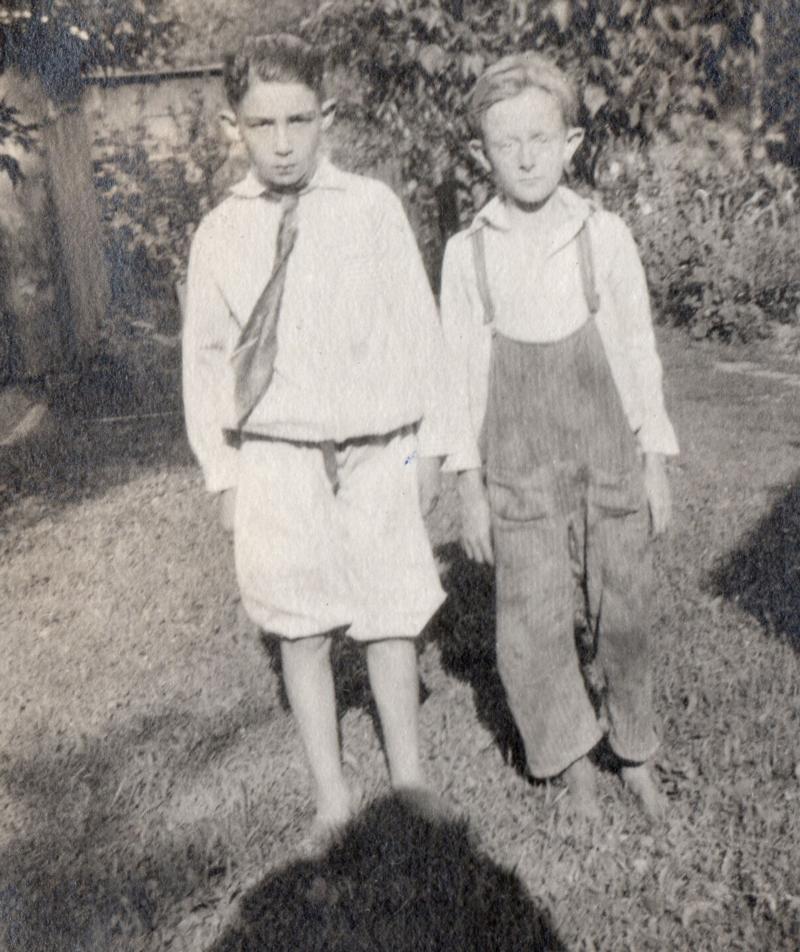 Fielden with childhood friend Willie Wake