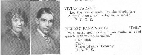 The 1927 Garfield High School Benedictus Yearbook: Fielden Farrington